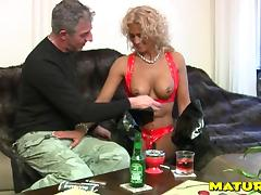 Lusty mature blonde has her wet snatch drilled with a fat member