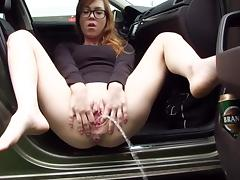 Amateur, Amateur, Car, Peeing, Pissing