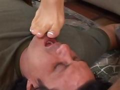 Amazing pornstar Roxy Deville in hottest foot fetish, stockings adult clip