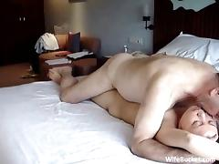 mixed couple hotel sex tape