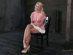This blonde has been acting naughty and will now be punished!