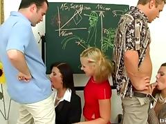 Celine Noiret participates in a quick classroom sex session
