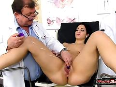 Doctor, Brunette, Cumshot, Doctor, Fetish, Reality