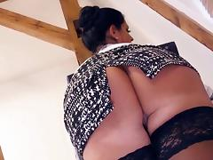 Busty German MILF secretary gets a taste BBC at the office