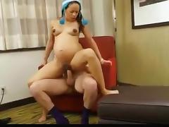 Pregnant, Blonde, Brunette, Fucking, Hardcore, Pregnant