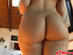 Ass gaping latina plays with sex toys
