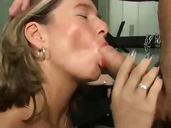 Mom and Boy, Cum in Mouth, Fucking, Mature, MILF, Mom