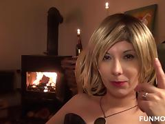 Blonde, Blonde, Blowjob, Crossdresser, Fetish