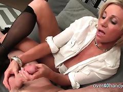 Blonde, Blonde, Handjob, HD, Masturbation, Mature