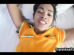 Tourist Cums Inside Small Asian Teen!