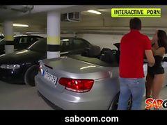 Liza Del Sierra gets fucked on a Car in an underground Garage
