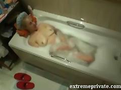 Bath masturbation my 38 years mom