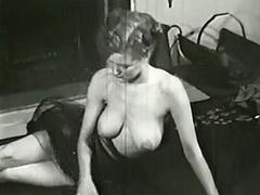 1950, Amateur, Babe, Brunette, Classic, Double