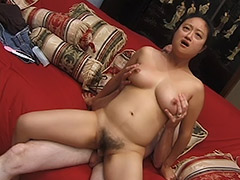 Oriental Amateur with a Hairy Pussy is Being Fucked by a Man who Gives His Cock for Sucking and then Fuck the Girl