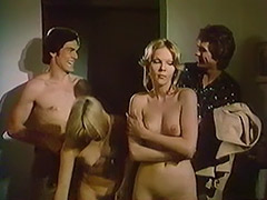 Swingers Convince a Girl to Enjoy Group Sex 1970