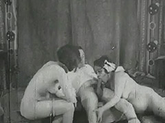 Girl Helps Older Couple Have Sex 1930