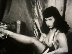 Brunette Bombshell Dances Seductively for Men 1950