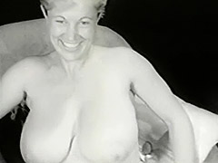 Gorgeous Busty Mom in White Corset 1950