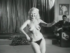 Sexy Blonde's Erotic Dance for Audience 1950