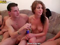 Blondie Sucks A Cock Until I't s Hard Enough For Her To Ride In A Sex Party
