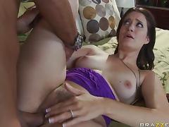 Brunette Slut Kimberly Kane Fucking Her Friend's Husband Big Dick