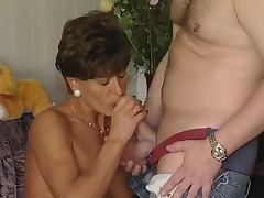 All, Blowjob, Brunette, Cumshot, Housewife, Mature