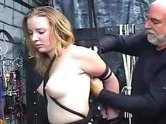 Bound, BDSM, Blonde, Bound, HD, Tattoo