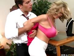 Office, Big Tits, Bitch, Blonde, Blowjob, Competition