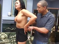 Kitty Langdon fucks a guy and gets cum on her pussy