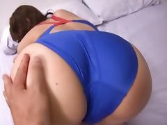 Lewd Japanese girl Sana gets hotly fucked in her swimsuit