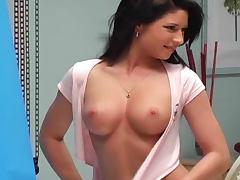 Backroom, Babe, Backroom, Backstage, Boobs, Brunette