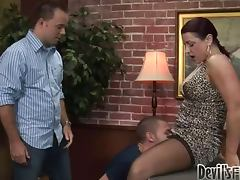 Hot threesome oral sex with two bisexual guys and a hottie