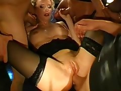 German Pussy Bukkake and Anal Gangbang