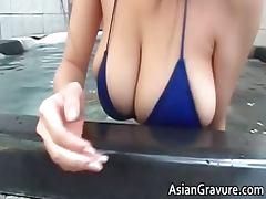 Hot brunette asian hoe with big juggs part1