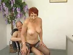 Sizzling and naughty granny is out of her mind