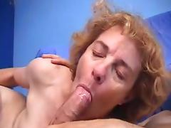 French hairy granny loves getting a fast anal drill