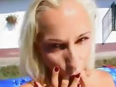 skinny blonde double anal