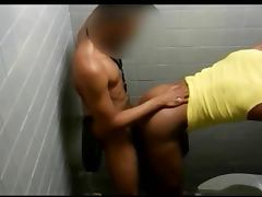 Black fucking in the bathroom