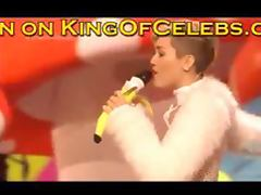 Miley Cyrus live performance wearing pasties and a thong