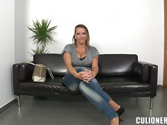 Laura seduces a stranger and fucks him in cowgirl position video