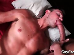 Lucky gay hunk gets free gay porn