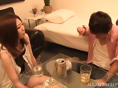 Homemade sex scene by a drunk couple from Japan