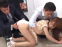New office manager gets drilled by her colleagues video