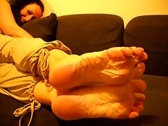 Mature French Woman Sexy Wrinkled Soles
