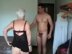 Granny, Drilled, Facial, Granny, Mature