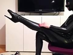 Catsuit, Catsuit, Fetish, German, Latex, Ballerina