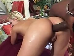UK blond Summer introduces her backdoor to Mandingo pt two