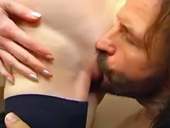 Lewd non professional older mother drilled hard by her son's ally video
