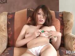 Asian hottie stripping and pleasuring her starved cunt video