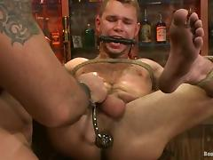 BDSM Gay Sex in the Pub with Ass Fucking and Bondage